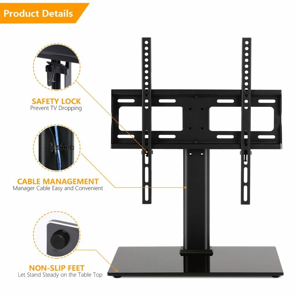 5Rcom Tabletop TV Stand with mount