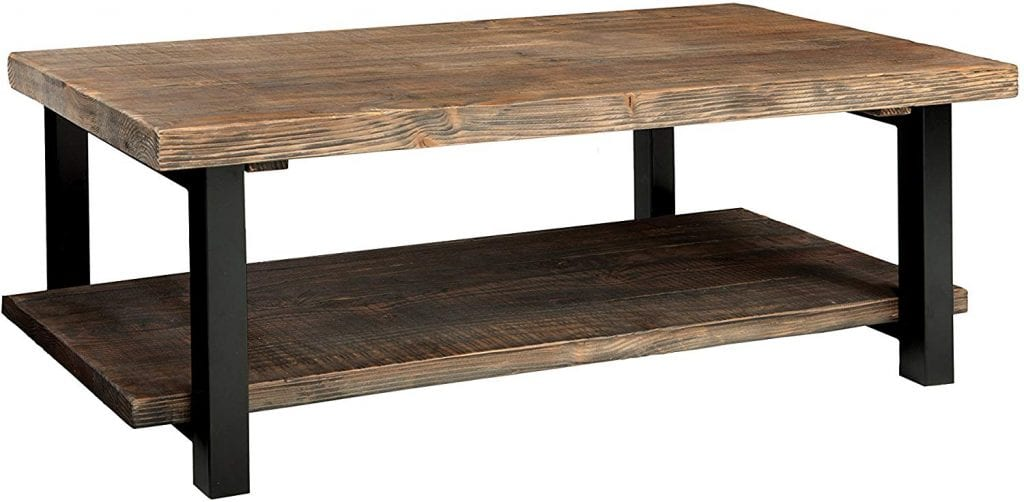 """Alaterre Sonoma 42"""" Rustic Natural Brown Coffee Table"""