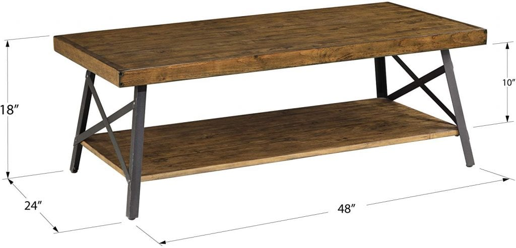 Emerald Home Chandler Rustic Wood Coffee Table