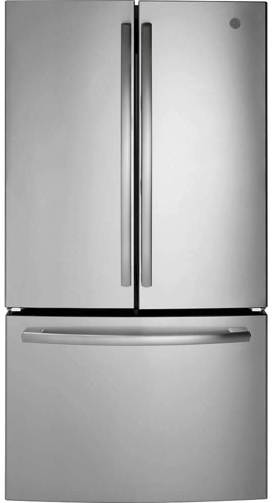GE Appliances GNE27JSMSS GE 26.7CF French Door Refrigerator