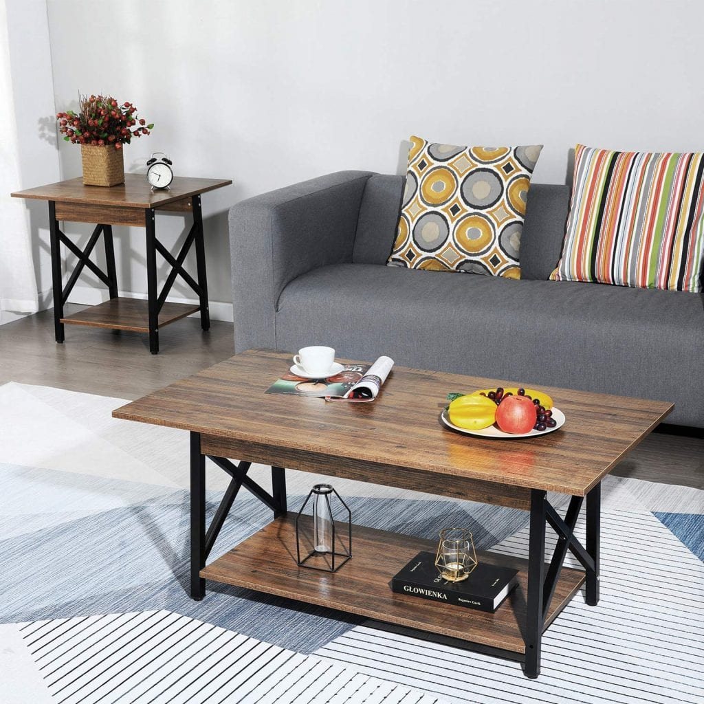 GreenForest Large Rectangular Coffee table