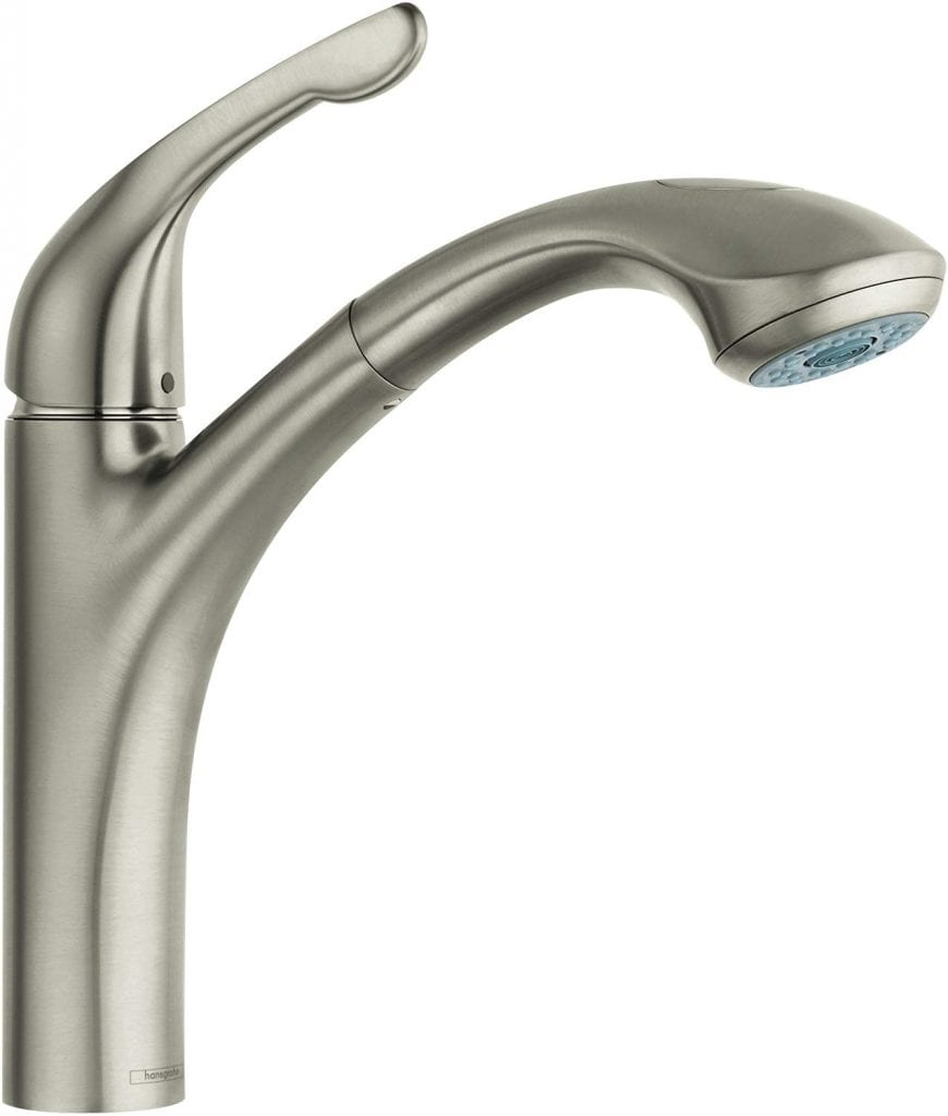 Hansgrohe Allegro E Premium 1-Handle 13-inch Tall Stainless Steel Kitchen Faucet