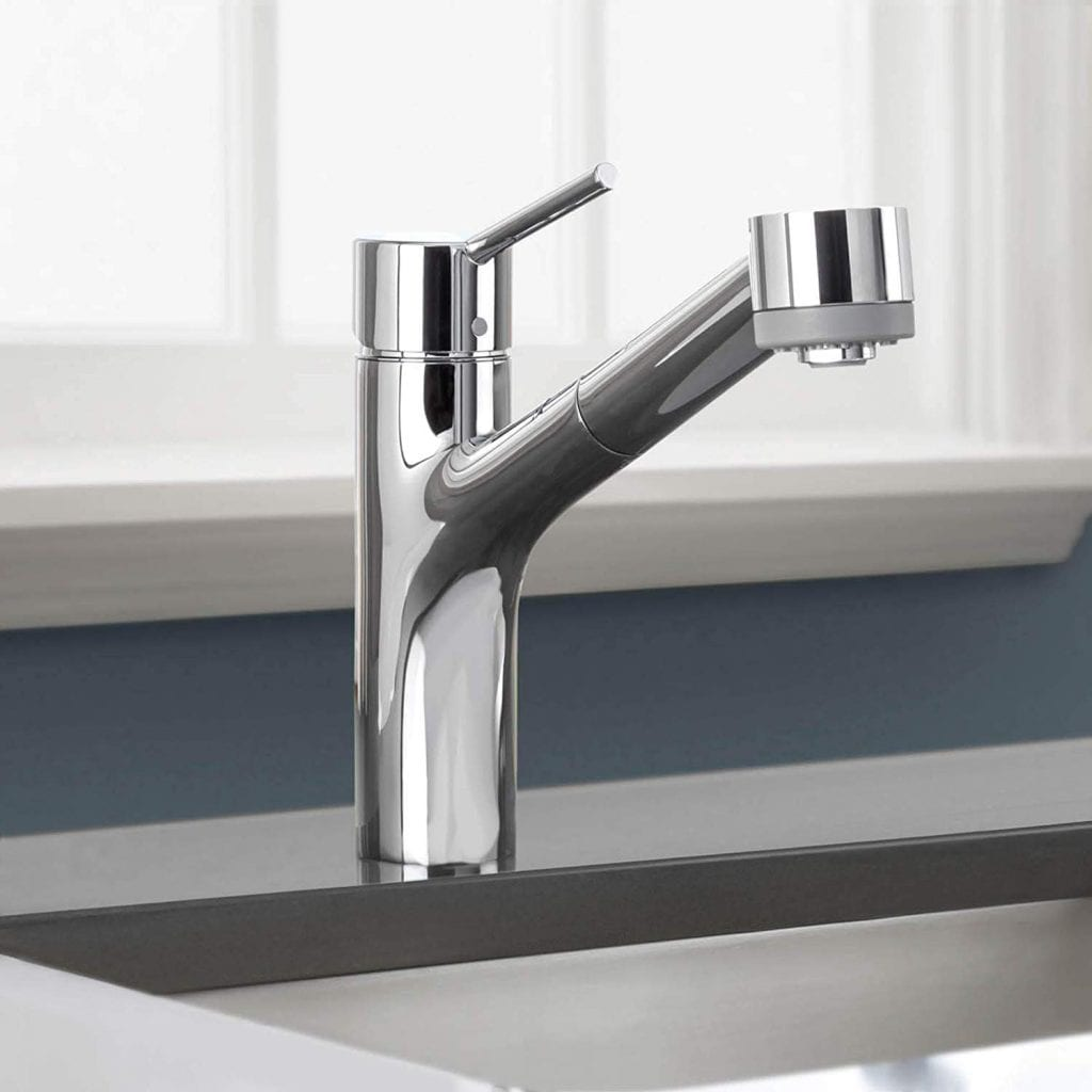 HansgroheTalis S Easy Install 1-Handle 9-inch Tall Stainless Steel Kitchen Faucet