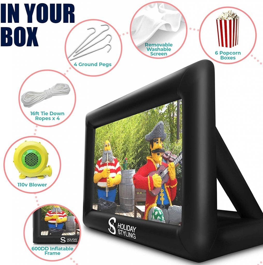Holiday Styling Inflatable Movie Screen + Speakers