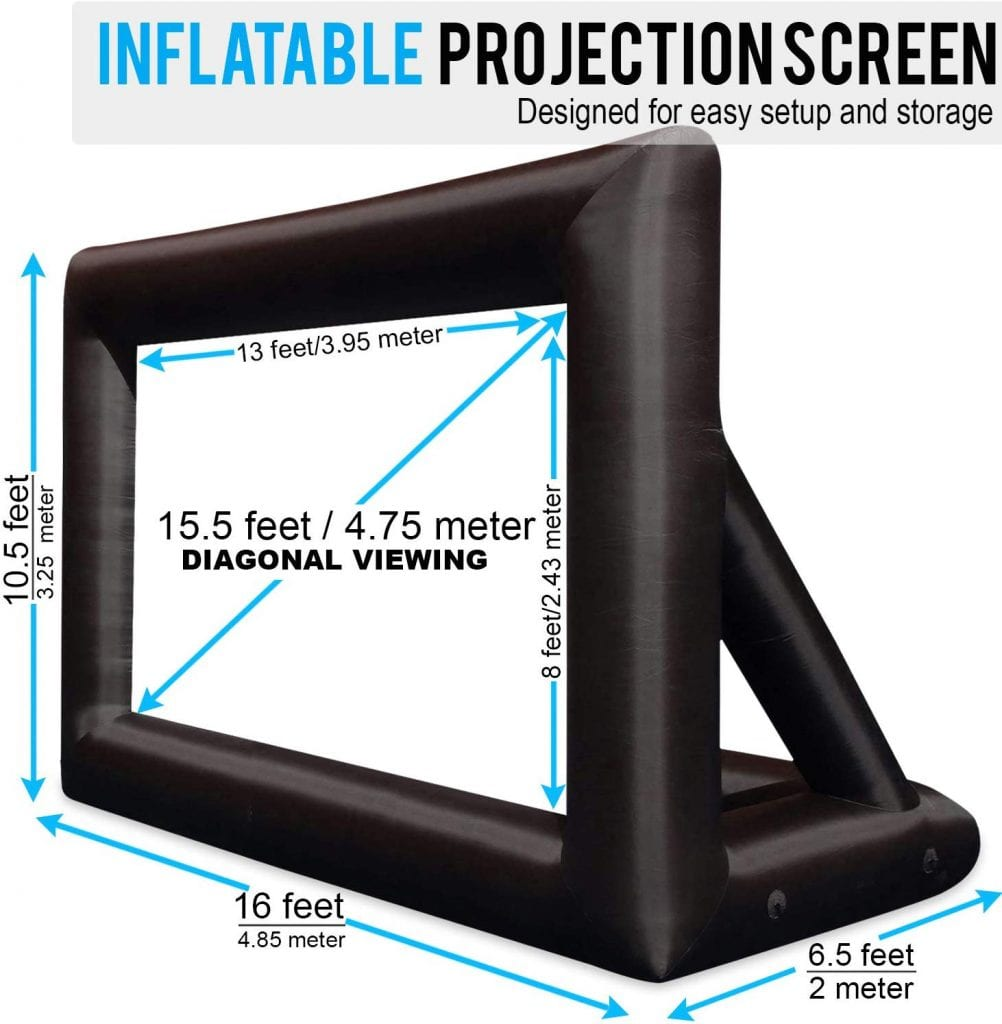 KHOMO GEAR 20 Feet Inflatable Outdoor & Indoor Projector Screen with Storage Bag