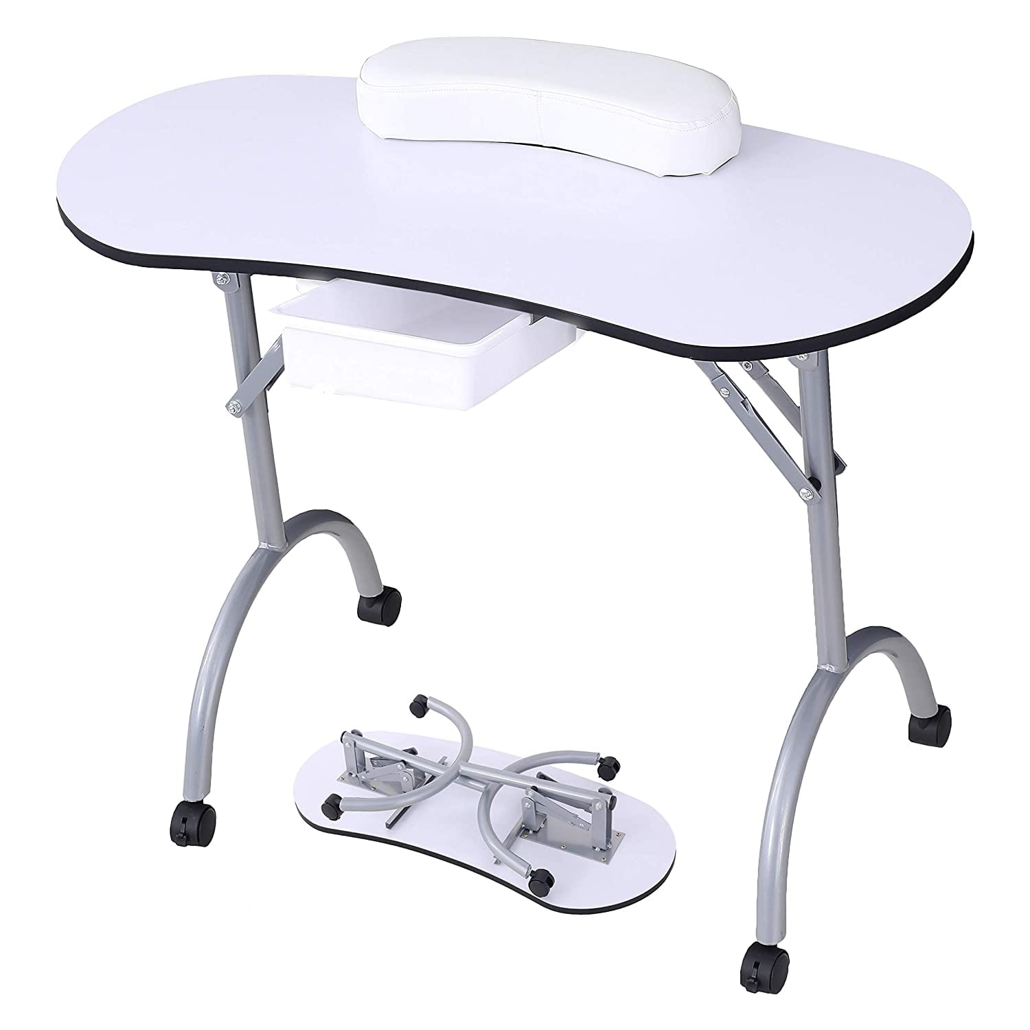 Manicure Nail Table -SUNCOO Nail Station Portable Manicure Desk