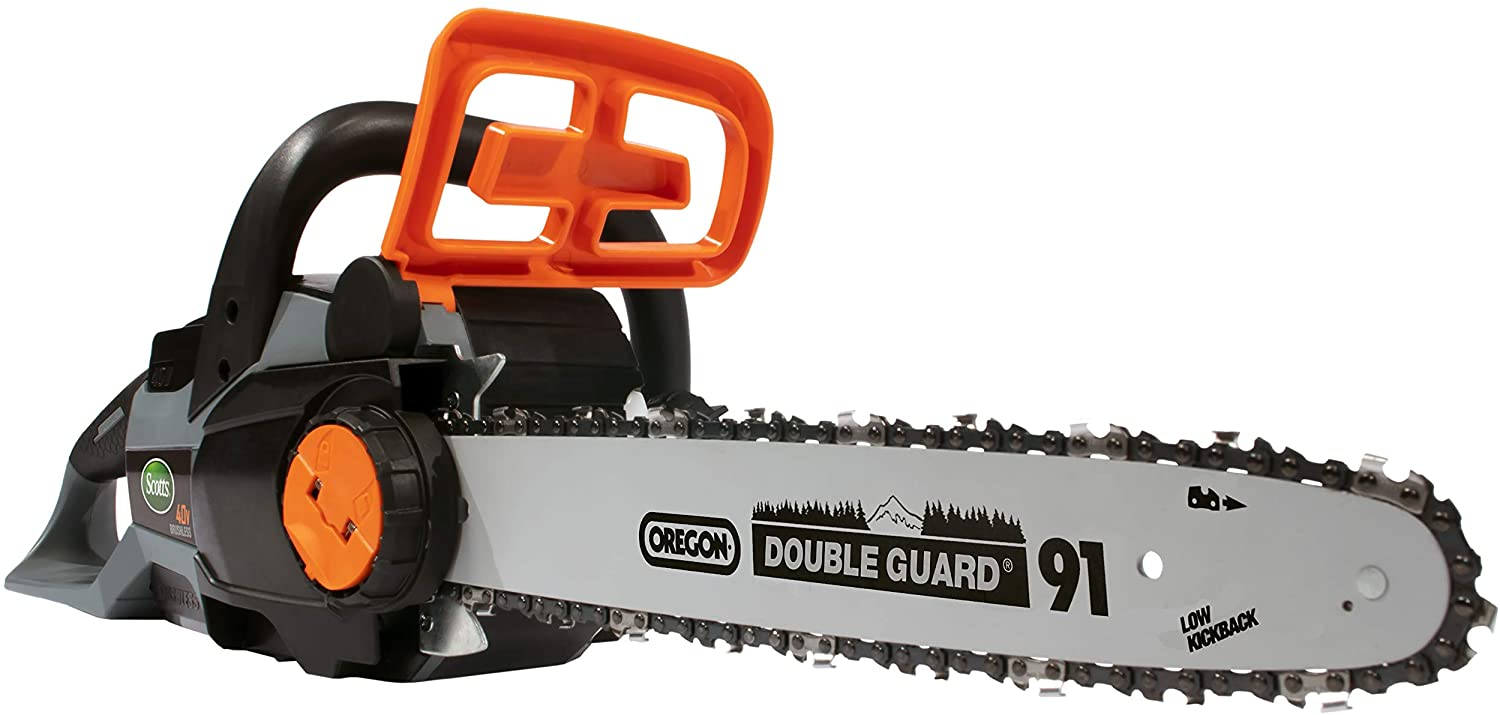 Scotts LCS31140S 14 in. 40-Volt Lithium Ion Cordless Chainsaw