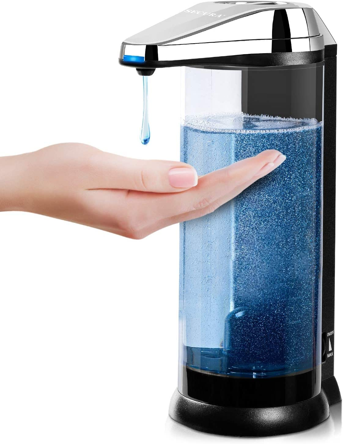 Secura 500ml Premium Touchless Battery Operated Electric Automatic Soap Dispenser