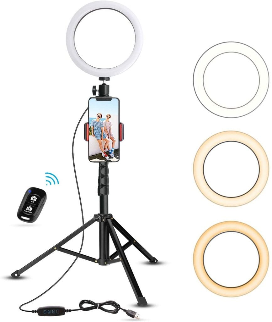UBeesize Selfie Ring Lights with Tripod Stand