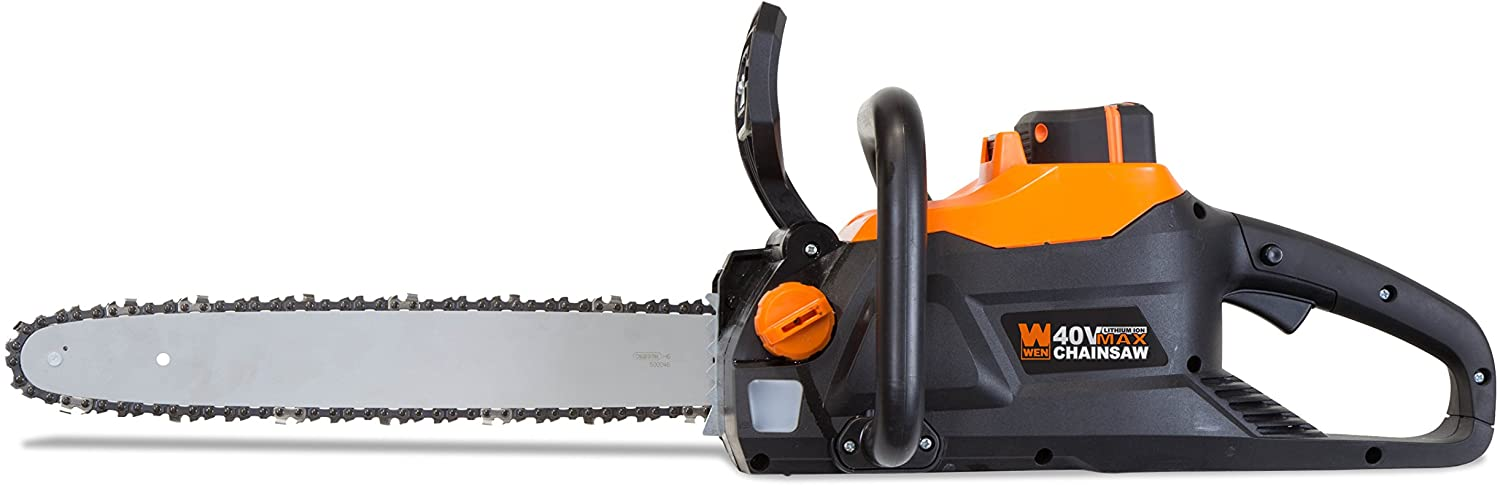 WEN 40417 40V Max Lithium Ion 16-Inch Brushless Chainsaw