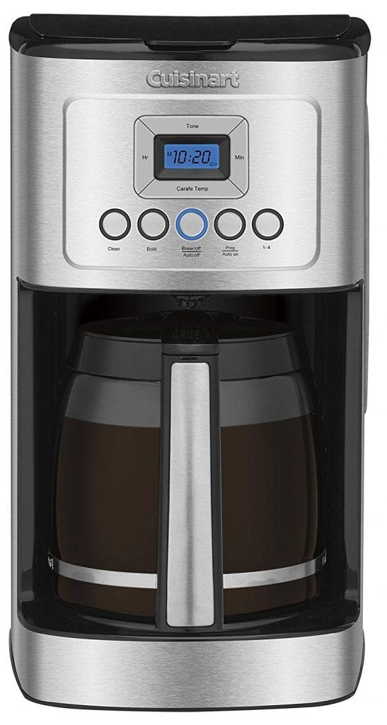Cuisinart DCC-3200P1 Glass Carafe Programmable Coffeemaker, Stainless Steel