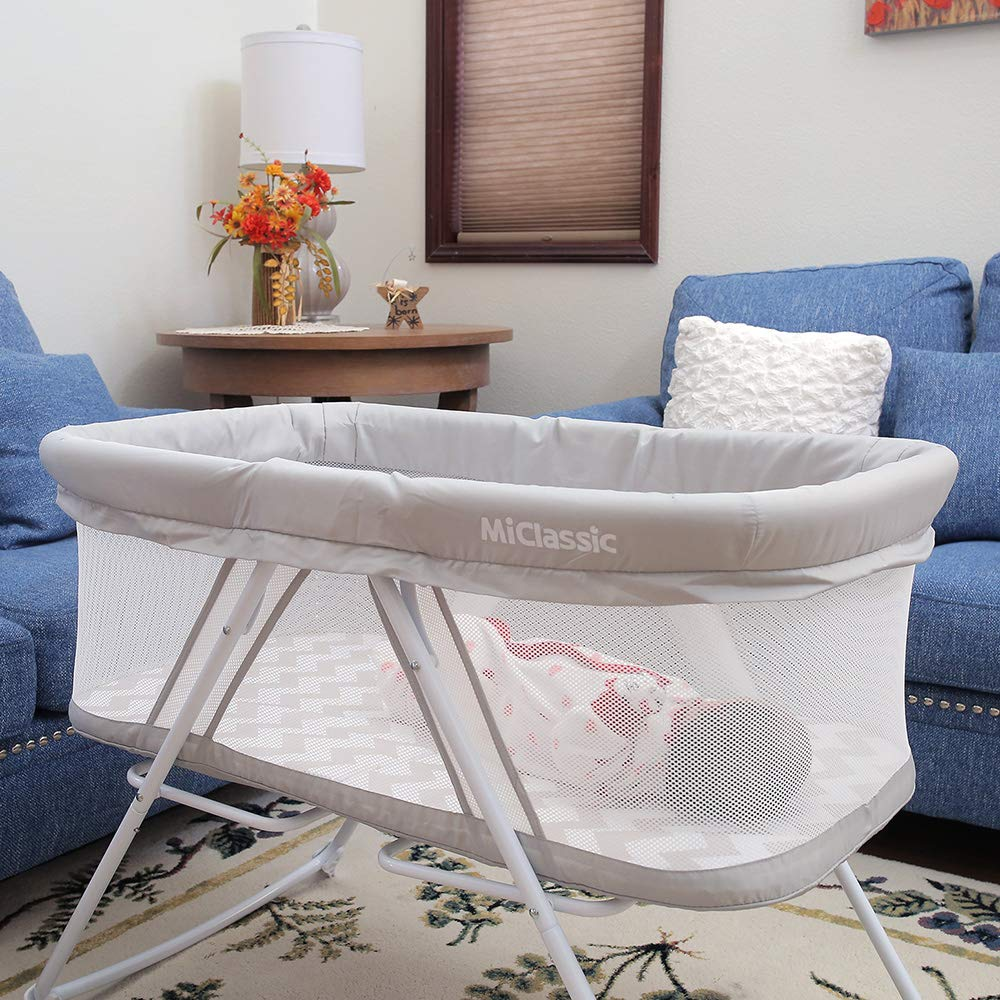 MiClassic All mesh 2in1 Stationary&Rock Bassinet