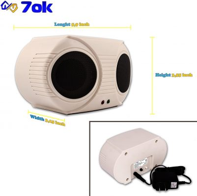70k - pest Repeller. Indoor, Electronic - ultrasonic (Sonic; Sound) pest Control, Rats and mice Repeller, Rodent Repellent Plug in.