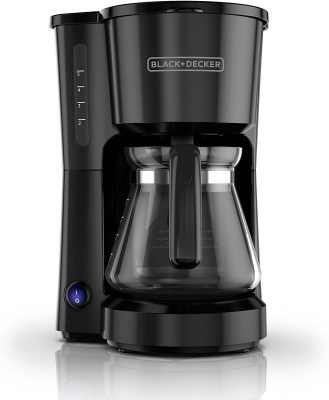 BLACK+DECKER 5-Cup Coffeemaker, Black