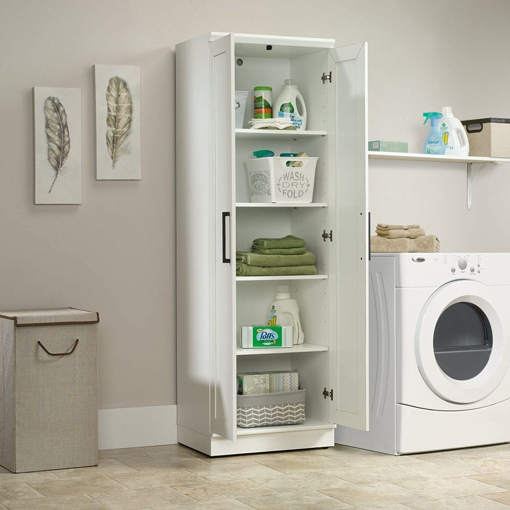 Sauder HomePlus Storage Cabinet, Soft White finish