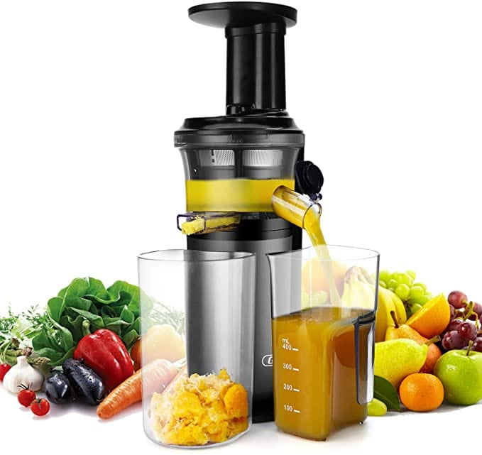 Slow Masticating Juicer with Slow Press Masticating Squeezer Technology
