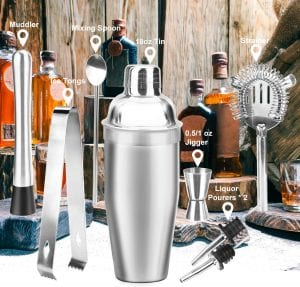 Stainless Steel Cocktail Shaker Bar Set Tools