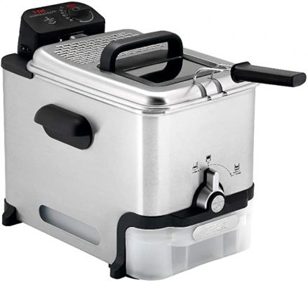 T-fal Deep Fryer with Basket, Stainless Steel, Easy to Clean Deep Fryer, Oil Filtration