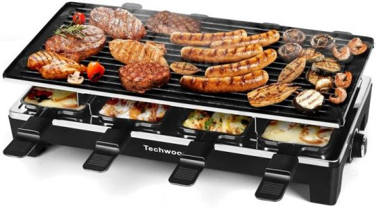 Techwood Raclette Grill Raclette Party Grill Electric BBQ Grill