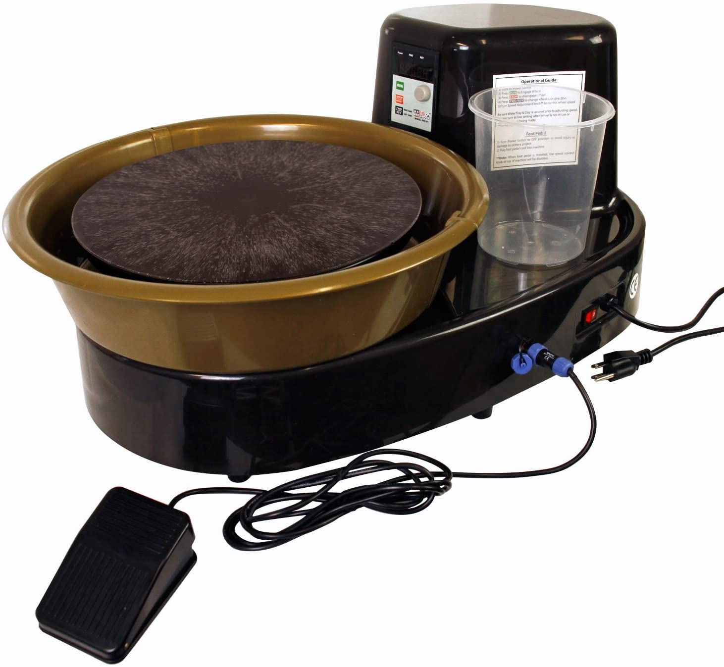 U.S. Art Supply 3:4 –HP Table Top Pottery Wheel with LCD Wheel Speed Display