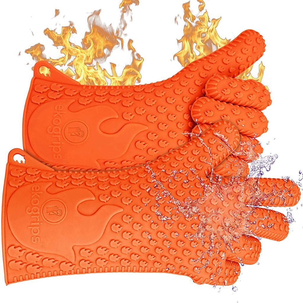 Jolly Green Products Ekogrips Silicone Heat Resistant BBQ Grill Gloves