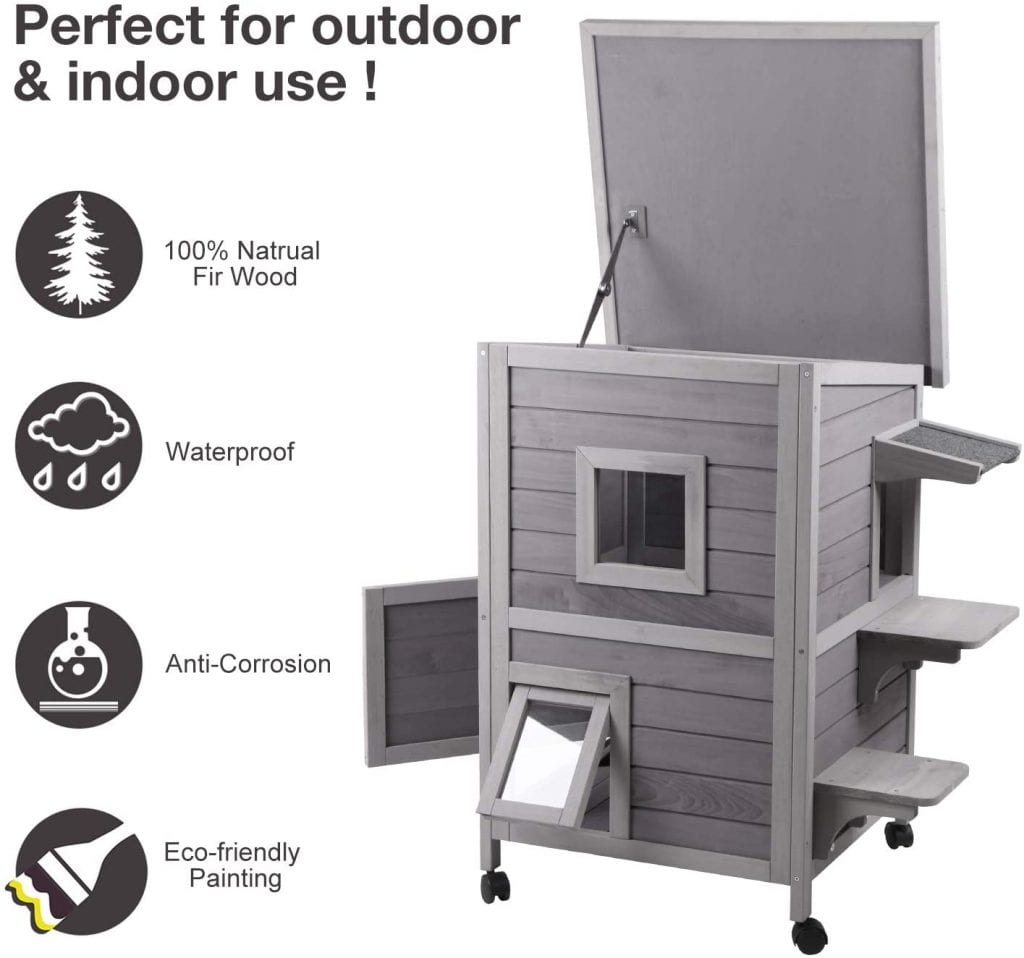 Aivituvin Weather Resistant Spacious Cat House