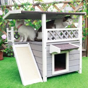 Petsfit Waterproof and Scratching pad Cat House