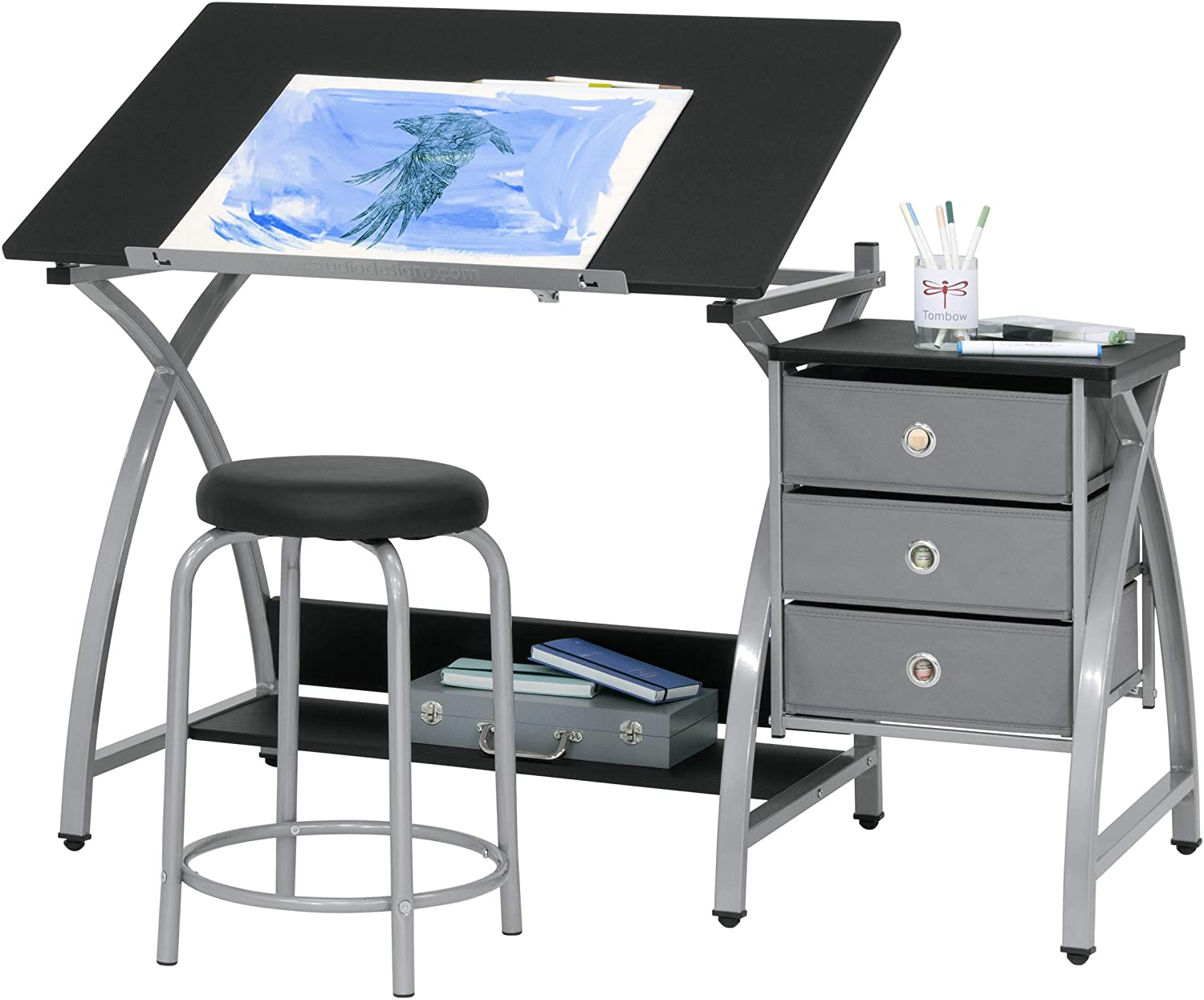 2 Piece Comet Art Drawing And Drafting Art Desk
