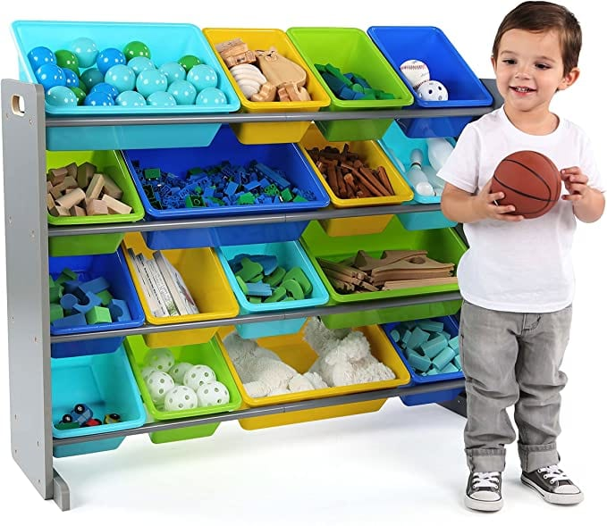 Humble Crew, Extra-Large Toy Organizer, 16 Storage Bins, X