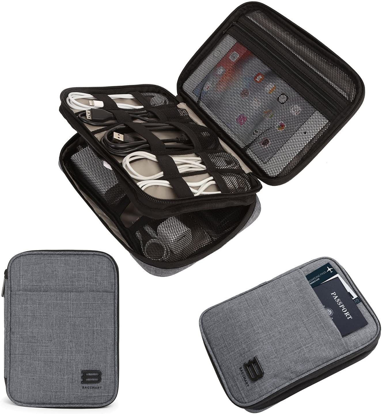 BAGSMART Electronic Organizer Double-Layer Travel Cable Organizer