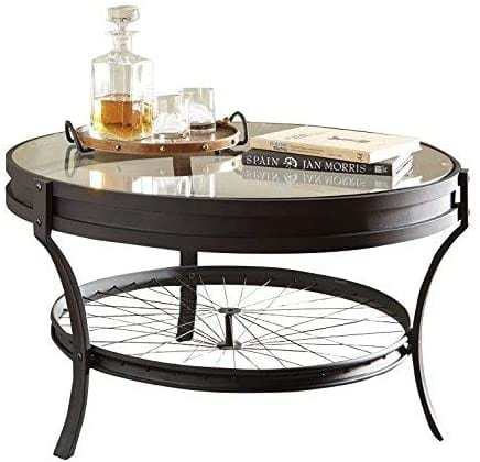 Coaster 705218-CO Round Glass Top Coffee Table