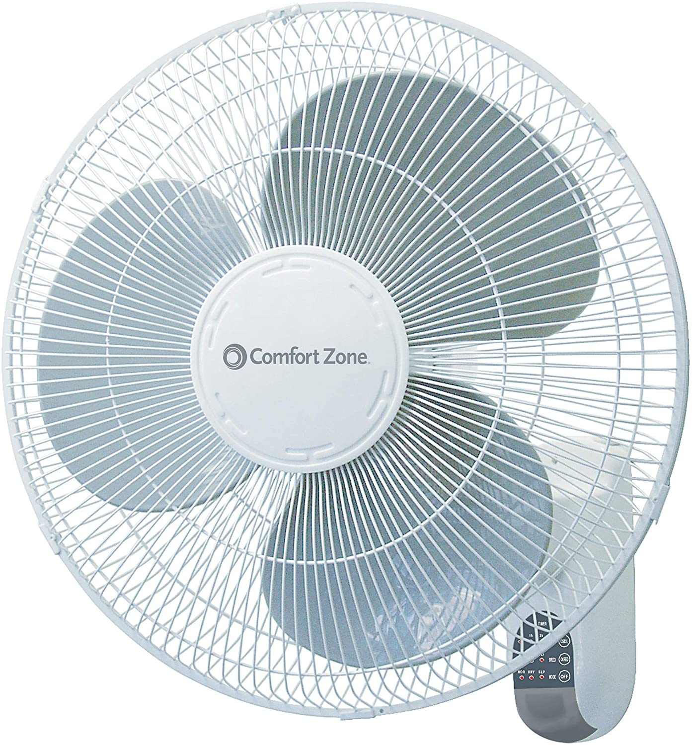 Comfort Zone CZ16WR 16-inch Quiet 3-Speed Wall Mount Fan