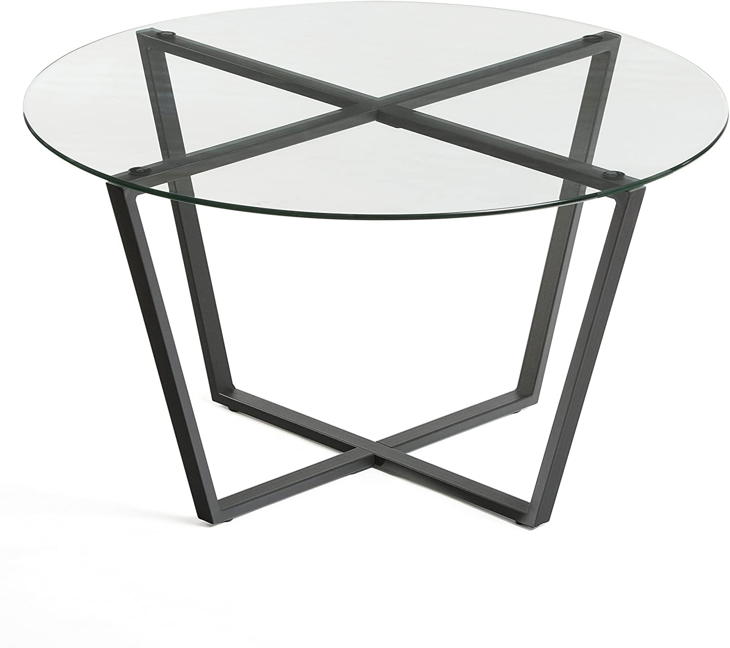 Mango Steam Metro Glass Coffee Table - Clear Top