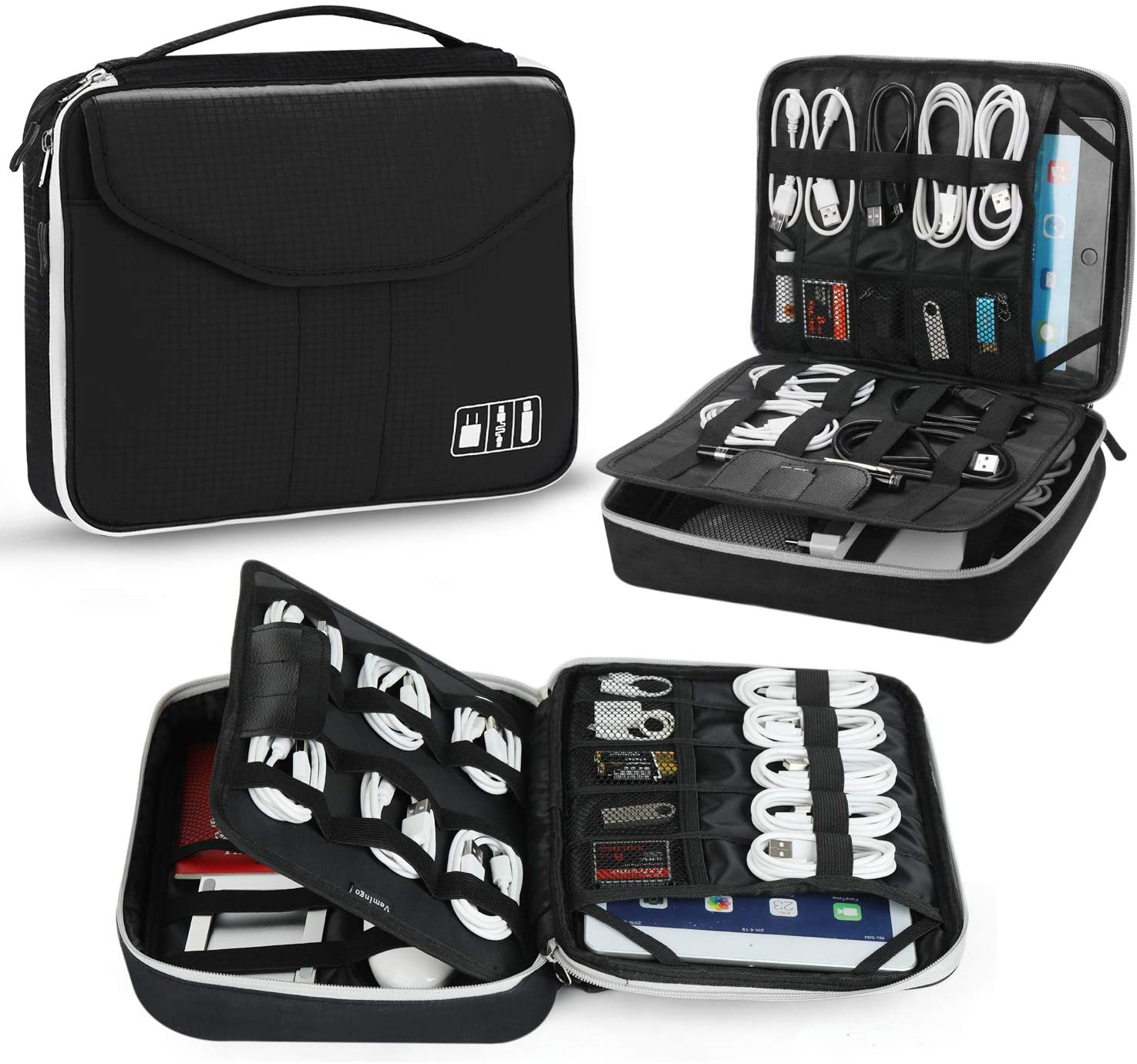Jelly Comb Travel Organizer Bag Electronic Accessory Cases Cable Organizer Bag
