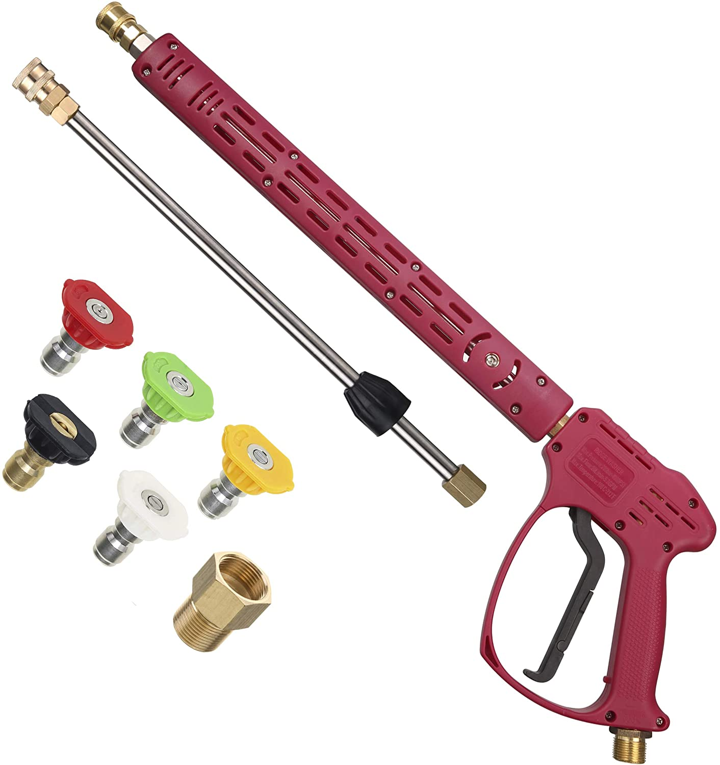 RIDGE WASHER Pressure Washer Gun with Extension Wand for Hot and Cold Water