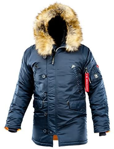 AIRBOSS Men's Parka N-3B Winter Parka, Warm Winter Coat with Hood for Cold Weather (Slim Fit)