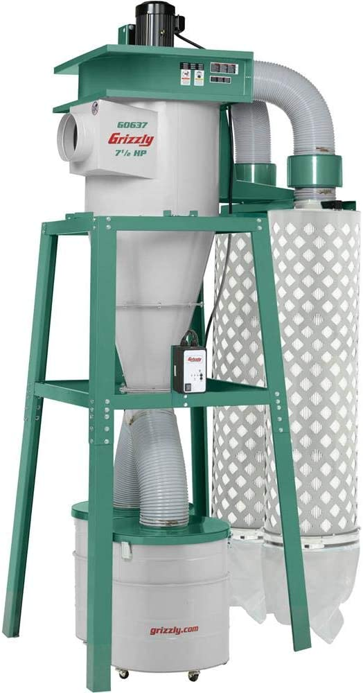 Grizzly Industrial G0637-7-1:2 HP 3-Phase Cyclone Dust Collector
