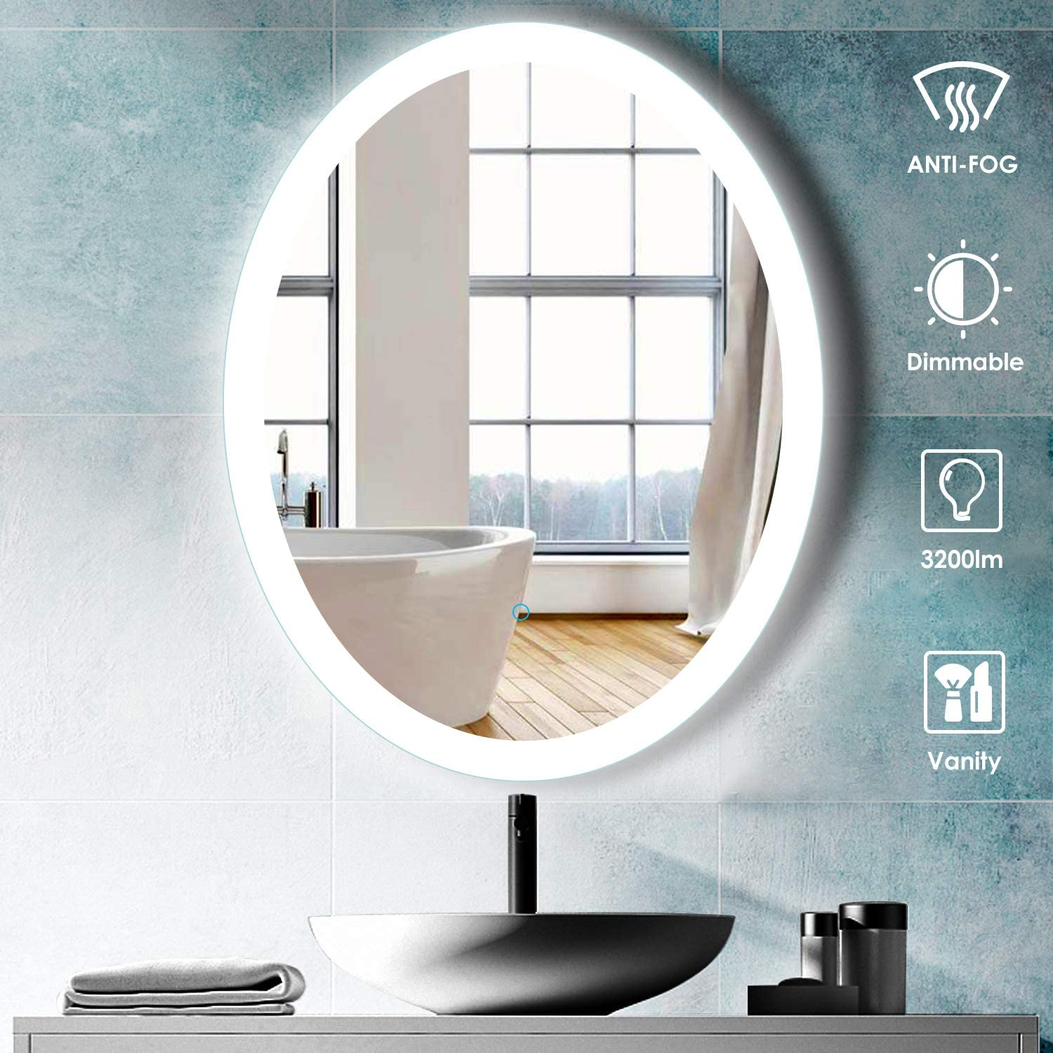 Aoorify 24x 30 led Lighted Wall Mirror