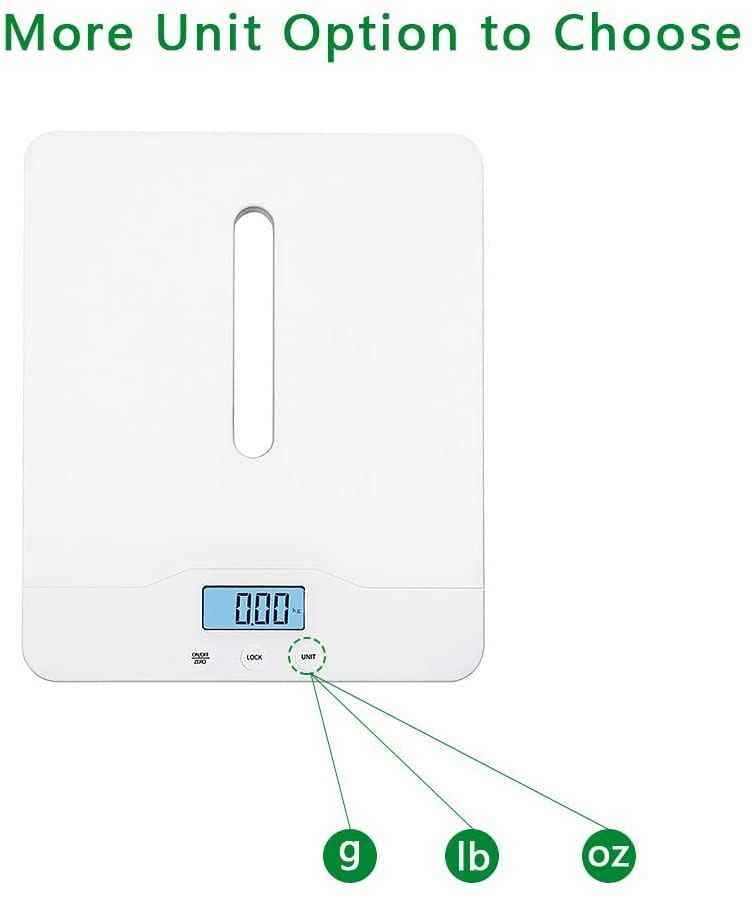 Hochoice Baby Scale Digital Pet Scale Multi-Function High Precision Electronic Scale, Infant Scale with Hold Function, 220 Pounds (lbs) Capacity, Accurate to 10g,Height Measurement Range 46-60cm-White