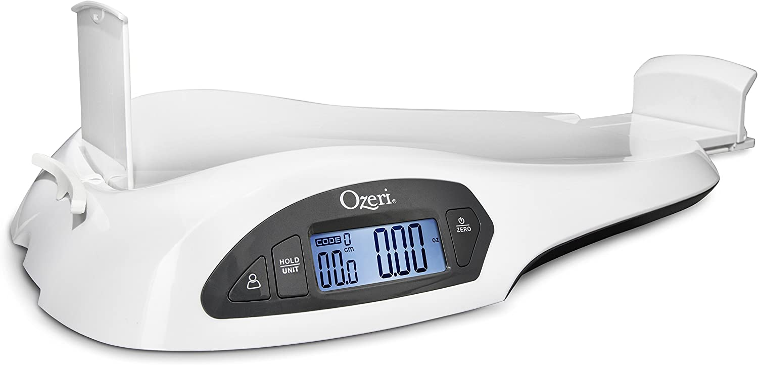 Ozeri All-in-One Baby and Toddler Scale - with Weight and Height Change Detection