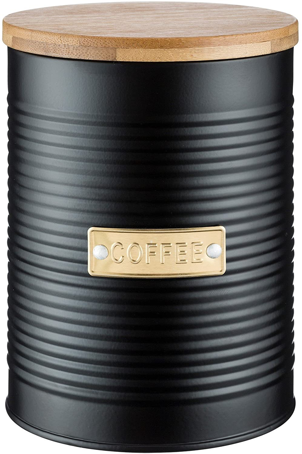 Typhoon Living Otto Airtight Coffee Storage Canister with Bamboo Lid, 1.4 Litre