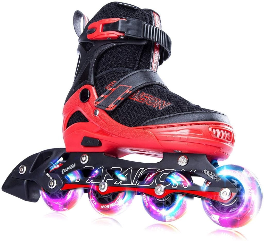 PAPAISON Adjustable Inline Skates for Kids and Adults